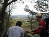 We hiked 6.5 miles from Lehigh Furnace Gap to the New Tripoli camp site on Saturday.  On Sunday, it was a short 1.6 mile hike to the Rt. 309 parking lot.