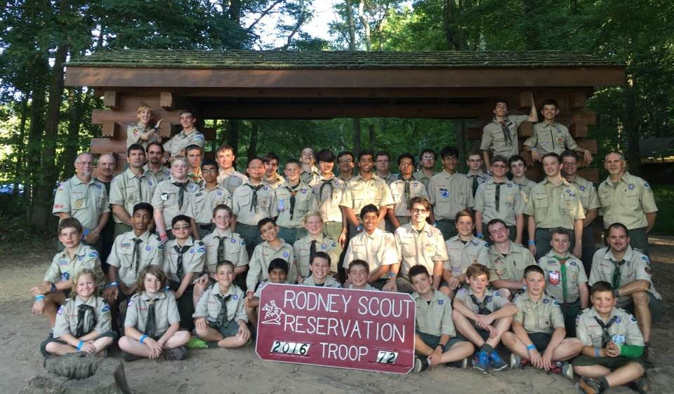Troop 72 at Camp Rodney, July 17, 2016